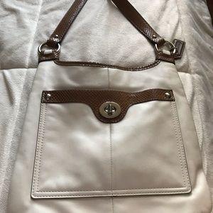 Coach leather flat crossbody bag
